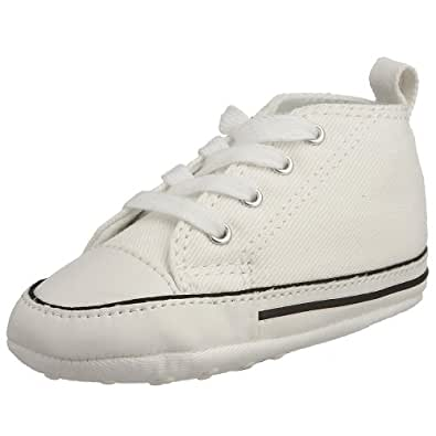 Converse First Star White Leather 81229 Crib Soft Bottom (1 Baby Crib size)