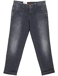 MAC, Damen Jeans Hose, Chino Cool,Stretchdenim,darkblue used [18143]