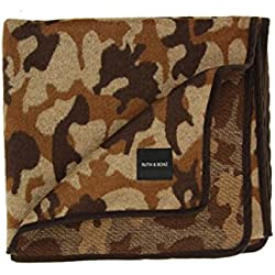 Ruth&Boaz Outdoor Wool Blend Blanket Camo Pattern (Brown, Normal)