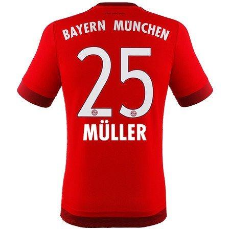 FC Bayern München Home Trikot 2015/16 - MÜLLER, Kinder Größe 176 (Fc Bayern München Trikot 2015)