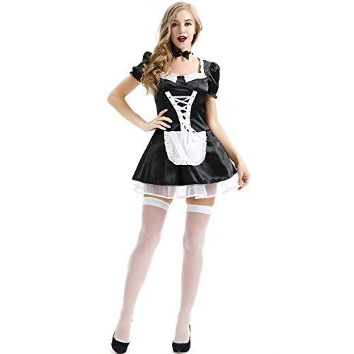 Tianyifeng Europäische und amerikanische sexy Magd Dienstmädchen Kostüm Rollenspiele COS Kleidung XL sexy Dessous Bild Farbe L (Men's Alpine Kostüm)