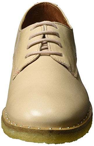 Shoe Biz Flat Laze, Derby Femme Ivoire (Velvet Nude)