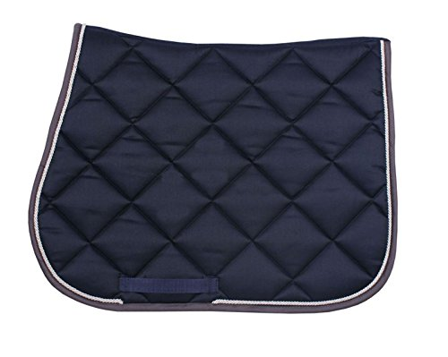 QHP Schabracke Profipad Baumwolle diagonale-Steppung Neue Farben (Navy, Warmblut Vs)