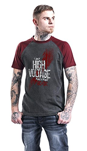AC/DC High Voltage T-Shirt charcoal/burgund charcoal/burgund