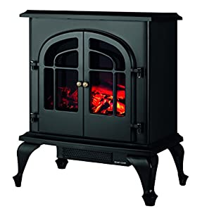 Warmlite WL46001 Log Effect Stove Fire, 2000 W - Black