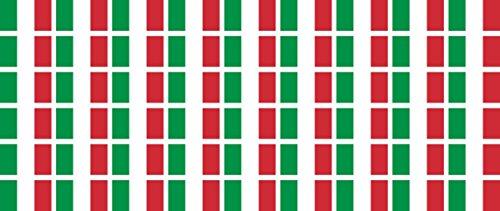 Mini Aufkleber Set - Pack glatt - 20x12mm - Sticker - Fahne - Italien - Flagge - Banner - Standarte fürs Auto, Büro, zu Hause und die Schule - 54 Stück