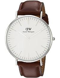 Daniel Wellington Classic Herren-Armbanduhr Analog Quarz Leder - DW00100021