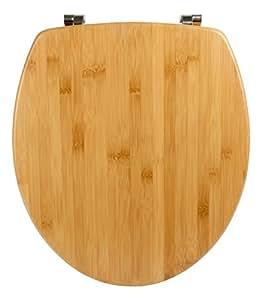 wc sitz bambus natur toilettensitz wc brille aus holz edelstahl scharnier baumarkt. Black Bedroom Furniture Sets. Home Design Ideas
