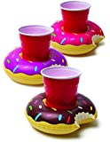 BigMouth Inc Inflatable Beverage Boats Donut 3pk