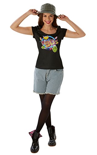 Kostüm Damen Offizielle - Rubie 's Offizielles I Love The 90's-T-Shirt