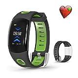 Fitness Armband Uhr, Vorstek Wristband Armbänder Für Sport GPS Pulsmesser, Schlafmonitor, Kalorienzähler mit Ersatzbänder Wasserdicht IP67 Aktivitätstracker Silikonarmband Anruf SMS Whatsapp für iOS Android Smartphone