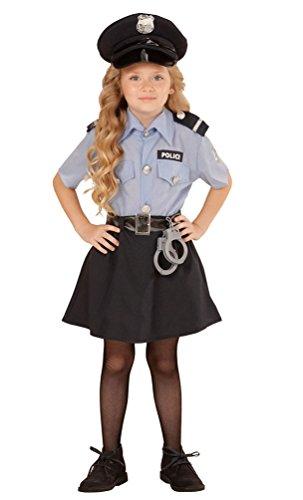 ,Karneval Klamotten' Kostüm Polizistin Sandra Mädchen Karneval Polizei Mädchenkostüm Größe 152 INKL. Zubehör (Fbi Kostüm Für Mädchen)