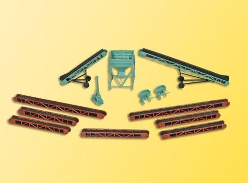 Kibri 38606 - H0 Ausgestaltungsset, Förderbänder und Schüttsilo