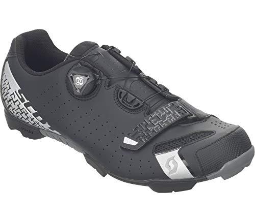 Scott Herren MTB-Radschuh Comp Boa Mountainbike Schuhe (Schwarz/Silber 5547), 47 EU