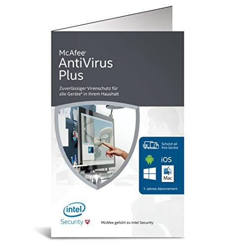 McAfee AntiVirus Plus 2016 unlimited – für eine unbegrenzte Anzahl an Geräten (Bi-fold Verpackung)