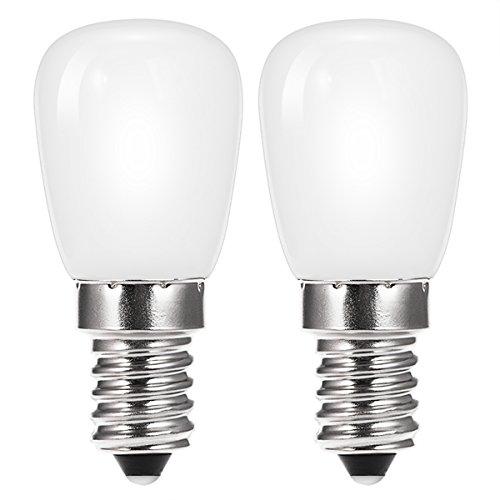 2x TECHGOMADE 2W E14 LED Kühlschrank Dunstabzugshaube Glühbirnen, Kaltweiß 6000K 200lm, gleichwertig mit 20-25W Glühbirne, kleine Edison Schraube E14 Pygmy Bulbs -