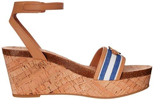 Tommy Hilfiger Hesley Damen Textile Keilabsätze Sandale Blue Multi