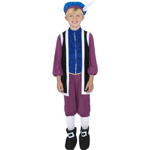 Tudor Boy Kostüm, mit Oberteil, Hose und Mütze