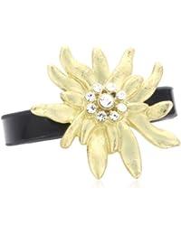 Sweet Deluxe Damen-Ring Messing Edelweiß gold/schwarz Gr. 56 (17.8) 2447