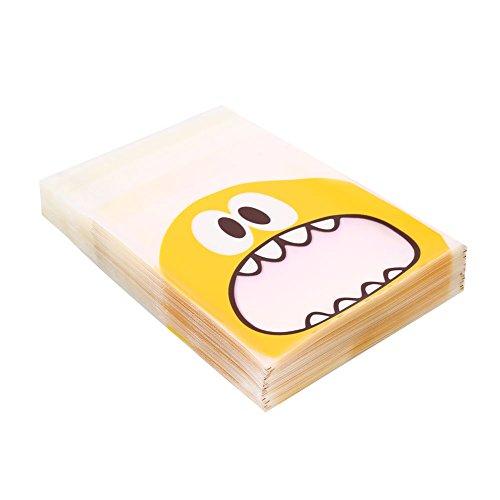 Keks-Taschen, 100 Stücke Cookie Keks Plastiktüten Monster Geschenk Selbstklebende Snack Bakken ()