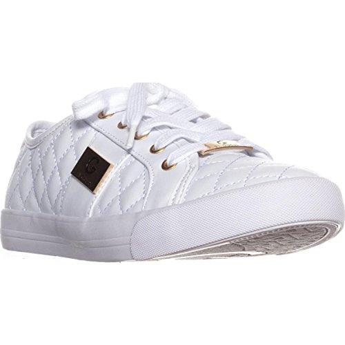 Guess G by Frauen Backer2 Leder Fashion Sneaker Weiss Groesse 11 US /42 EU