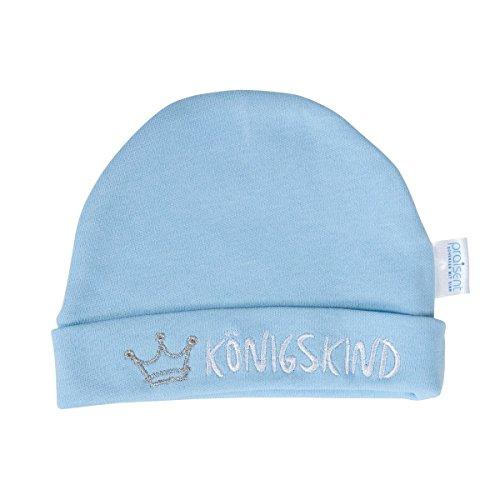 Christliche Geschenkideen °* Mütze Königskind® Baby Neugeborenen-Mützchen (Hellblau)