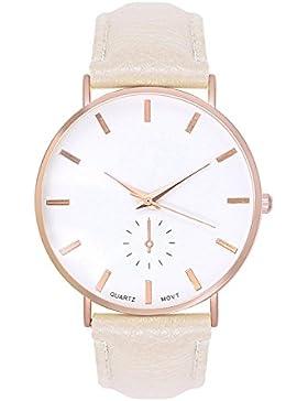 Trend Uhr Designer Roségold Damenuhr Chronograph Optik Farbe: Beige Creme Rose Rosegold Gold Armbanduhr Rosengold...