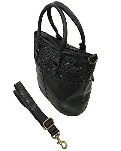 3d71711b79ded Damen Tasche Calliope Paul.hide Beutel Handtasche Schultertasche Vintage  Geflochten Geflochtene Gewaschenes Leder Made In ...