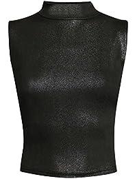 PILOT® roxy feuille impression de haute cou crop top