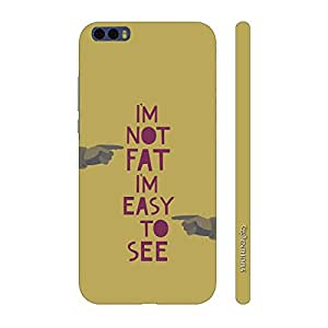 Enthopia Designer Hardshell Case Fat is Easy Back Cover for Xiaomi Mi 6 Plus