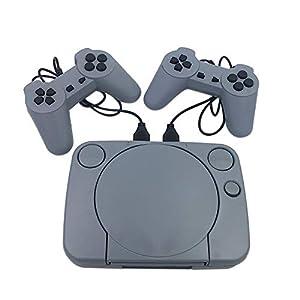 TEEKOO Retro-Spiele-Videokonsole, Duble-Gamepad mit 8 Bit-Unterstützung, AV-Ausgang, Videospiel für Familie mit 2 Controllern