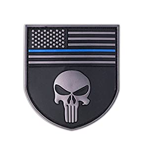 Punisher Shield Patch PVC Seal Team USA Écusson Special Force