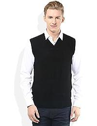 "ZAKOD Sleeveless Slim Fit Sweater for Men,100% Wool Sweater,Daily Use Sweater, M=38"",L=40"",XL=42"""