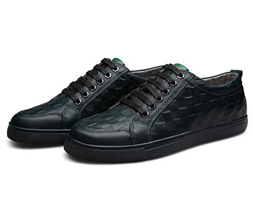 WZG première couche de chaussures en cuir des chaussures de British chaussures mode casual chaussures en dentelle 9.5 Nouveaux cuir pour hommes Blue