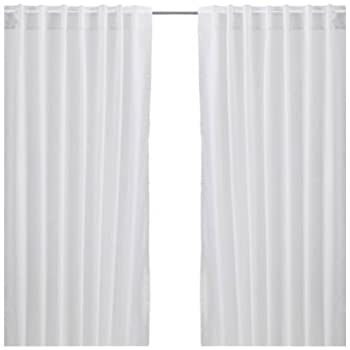 Ikea Vivian 2 Curtains 300 X 145 Cm With Tunnel Hem White