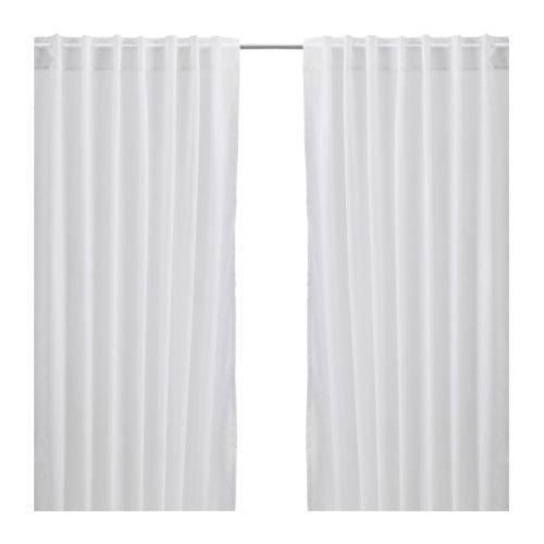 Ikea Vivan Vorhänge, 1 Paar, Weiß, 145 x 300 cm, weiß, Doppelpackung