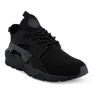 FiveSix Herren Sneaker Sportschuhe Laufschuhe Freizeitschuhe Textilschuhe Camouflage Schnürschuhe Low-Top Schuhe Schwarz EU 42