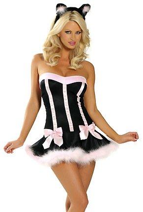 Gorgeous Sexy Wäsche trägerlos siamesische Halloween Cosplay Halloween-Kostüme Catwoman Spieluniformen