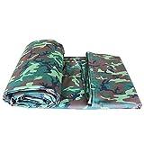 , Camo Camouflage Heavy Duty Tarp-Tarpaulin Canvas Antipioggia, Resistente agli strappi, Impermeabile, Resistente ai raggi UV, Copertura del foglio di base, per camion, barca, copertura per piscina FE