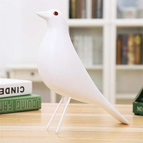 shovv Weiß Harz Vogel Figur Europäischen Home Fenster Behandlungen Dekor Friedenstaube Statue Handgefertigte Holz Vögel Spielzeug