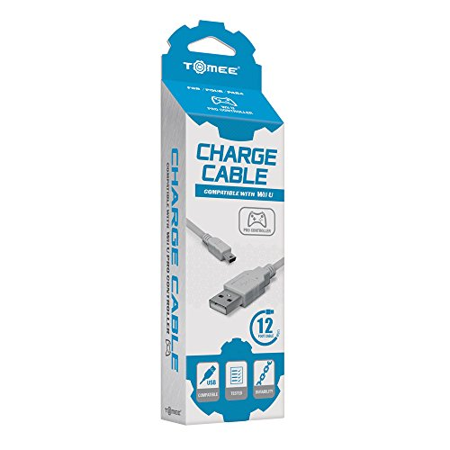 Tomee : cable chargeur pour manette Pro sur console Nintendo Wii-U