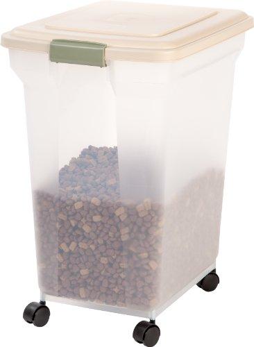 IRIS Premium Airtight Food Storage Container, Tan, Extra Large