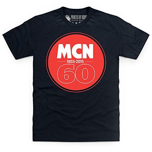 MCN 60th Anniversary T-Shirt, Herren Schwarz