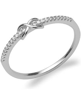 Schmaler Ring Unendlichkeitszeichen 925er Silber SR0308