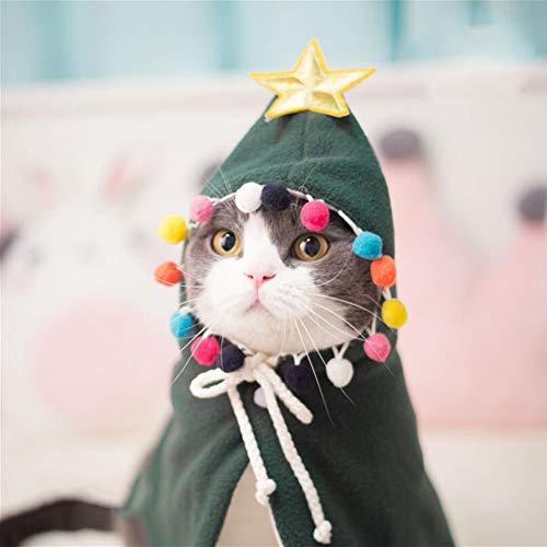 Sie Machen Baum Kostüm Einen - CDSFC-Haustier Kostüm, Weihnachtsbaum-Umhang-Festival-Party Fangen Sie Die Augen Lassen Sie Haustier EIN Spezielles Weihnachten Haben,S