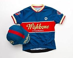 Wishbone 3224 - Los niños Camisa Bicicleta, Talla L, Azul