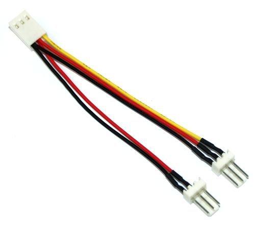 InLine Lüfter-Y-Adapterkabel, 3-pin Molex Buchse an 2x 3-pin Molex Stecker