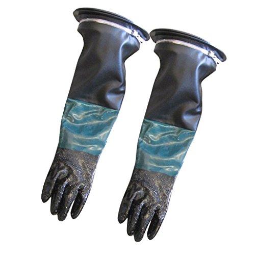 Fenteer 1 Paire Gants de Protection de Travail Gants Antidérapants Sableuse - 60cm #1