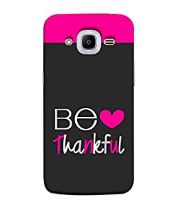 PrintVisa Designer Back Case Cover for SAMSUNG GALAXY J2(2016) (Be thankful heart colorful image)