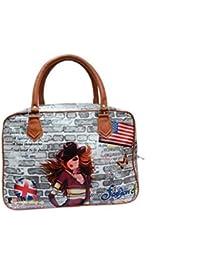 Zacharias Women Elegant Handheld Digital Print Casual Hobo Shopping Carry Hand Bag (MIX COLORS AND PRINTS)